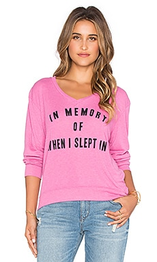 Wildfox Couture After Children Sweatshirt in Bouganvillea
