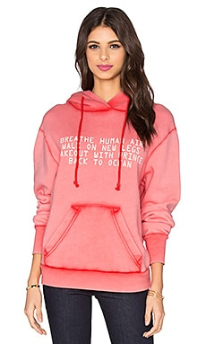 Wildfox Couture Mermaid Rules Hoodie in Ariel Red