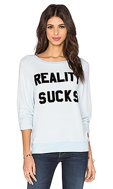Wildfox Couture Reality Sucks Sweatshirt in Jacuzzi