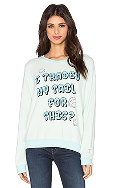 Wildfox Couture Mad Mermaid Sweatshirt in Saltwater Taffy