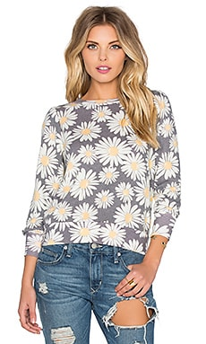 Daisy Train Pullover in Multi