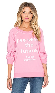 Wildfox Couture The Kim Clairvoyant Sweater in Dirty Valley Pink