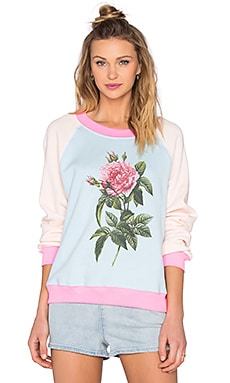Wildfox Couture Pretty Pink Floral Sweatshirt in Jacuzzi
