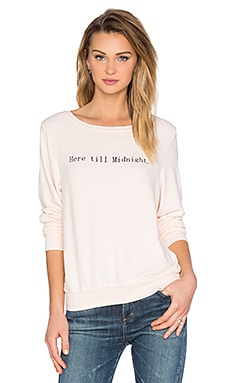 Wildfox Couture Here Til' Midnight Sweatshirt in Chapstick