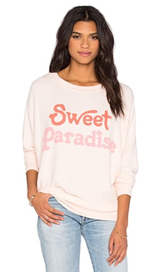 Wildfox Couture Sweet Paradise Sweatshirt in Chapstick