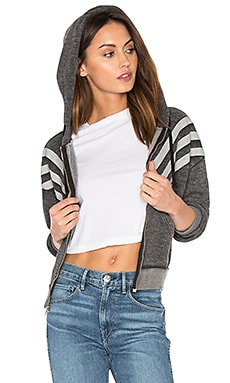Burnout Fleece Tri Stripe Hoodie