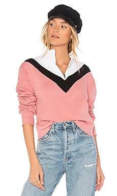 Colorblock Zipper Sweatshirt