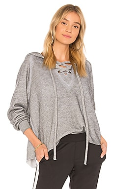Lace Up Cropped Hoodie