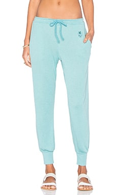 Wildfox Couture Basics Jogger in Oasis Blue