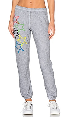 Wildfox Couture Olympic Stars Pants in Heather Grey