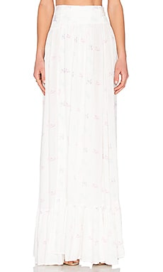 Wildfox Couture Unicorn Maxi Skirt in Clean White