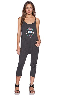 Wildfox Couture Third Eye Jumpsuit in Clean Black
