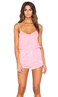 Wildfox Couture Pool Party Romper in Pink Lemonade