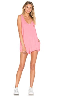 Wildfox Couture Basics Romper in Neon Sign