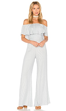 Chambray Jumpsuit in Stripe