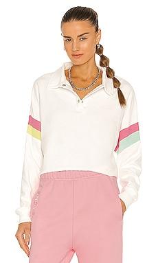 Candy Stripe Miami Polo Top Wildfox Couture $56