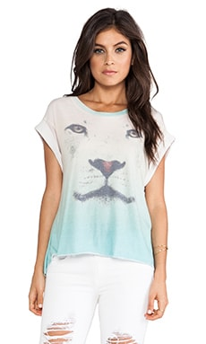 Wildfox Couture Lion Jagged Edge Tee in Multi