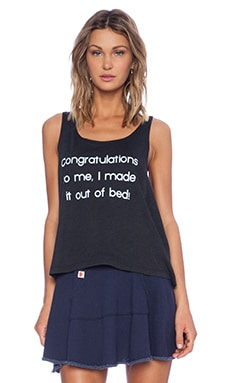 Wildfox Couture Foxercise I Made It Tank in Clean Black
