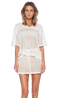Wildfox Couture Foxercise Classic Logo Tee in Vintage Lace