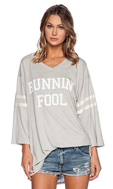 Wildfox Couture Runnin' Fool Tee in Morning Mist