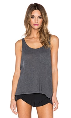 Wildfox Couture Scoop Neck Tank in Dirty Black