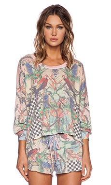 Wildfox Couture Crazy Town Top in Multi Colored