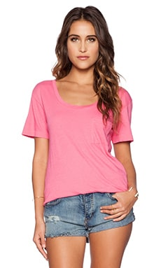 Wildfox Couture Basic Tee in Acid Pink