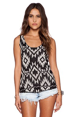 Wildfox Couture Tribal Floral Tank in Pale Moon