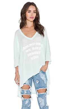 Wildfox Couture Around Here Tee in Pool Dip
