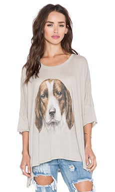 Wildfox Couture The Hound Tee in Warm Cement