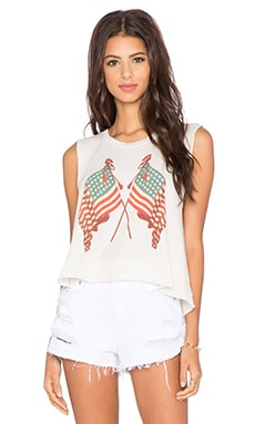 Wildfox Couture Lady Liberty Tank in Vintage Lace