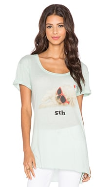 Wildfox Couture Hungover Pup Tee in Clear Pool