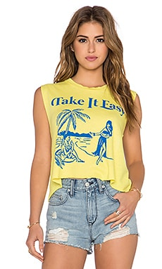Wildfox Couture x REVOLVE Hula Chill Chad Tank in Acid Yellow