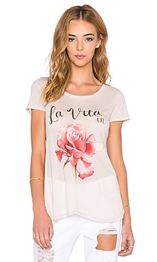 Wildfox Couture La Vita Tee in Pout