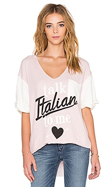 T-SHIRT GRAPHIQUE TALK ITALIAN TO ME