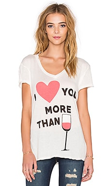 Wildfox Couture I Love You More Than Tee in Vintage Lace