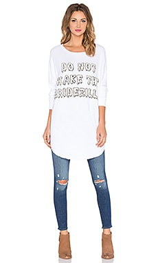 Wildfox Couture Bridezilla Tee in White Wedding