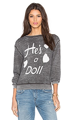 Wildfox Couture He's A Doll Tee in Dirty Black