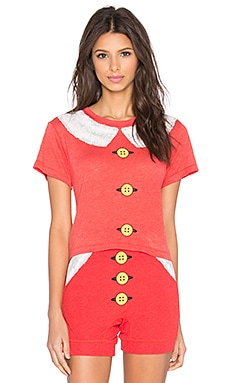 Wildfox Couture Mrs. Claus Crop Top in Marinara