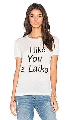 Wildfox Couture I Like you A Latke Tee in Vintage Lace