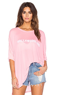 Wildfox Couture Hollywoodland Tee in Pink Lemonade
