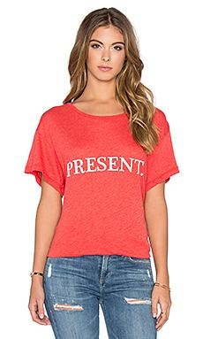 Wildfox Couture Unwrap Me Tee in Marinara
