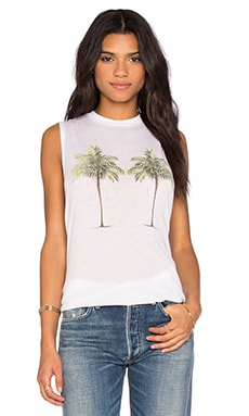 Wildfox Couture Building Tank in Clean White