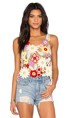 Flower Crochet Tank in Multi