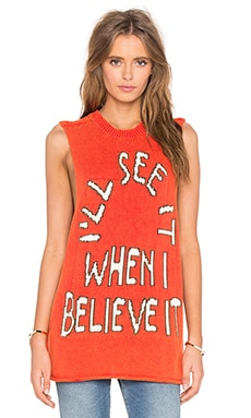 Wildfox Couture Believe It Muscle Tank in Ariel Red