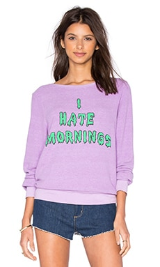 Wildfox Couture I Hate Morning Tee in Prince