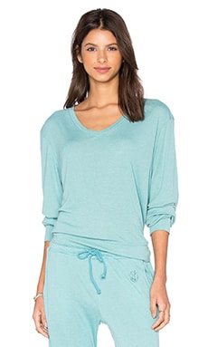 Wildfox Couture Basics Top en Bleu Oasis