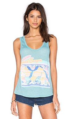 Wildfox Couture Canyon Postcard Tank in Oasis Blue