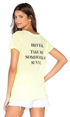 Take Me Somewhere Tee in Neon Sign Yellow