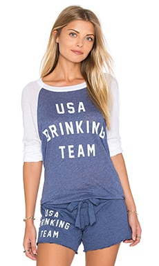 USA Drinking Team Top en Bleu Nuit
